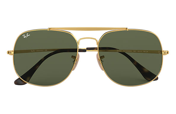 317caf25731 Ray-Ban General RB3561 Gold - Metal - Green Lenses - 0RB356100157 ...