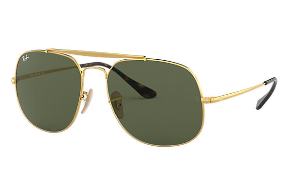 Ray-Ban Sunglasses GENERAL Gold with Green Classic G-15 lens