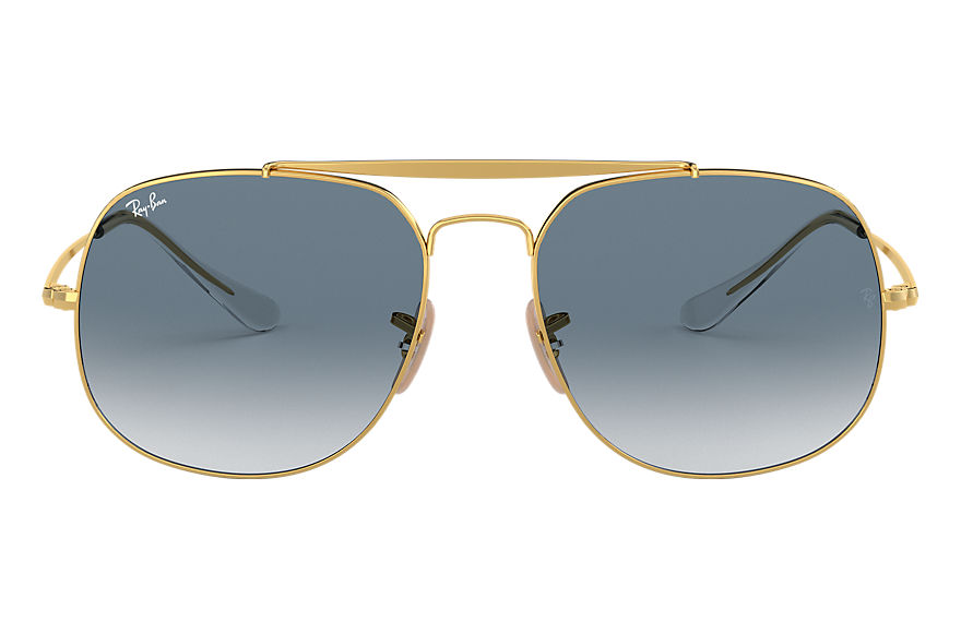 Ray-Ban  oculos de sol RB3561 MALE 008 general ouro 8053672730364