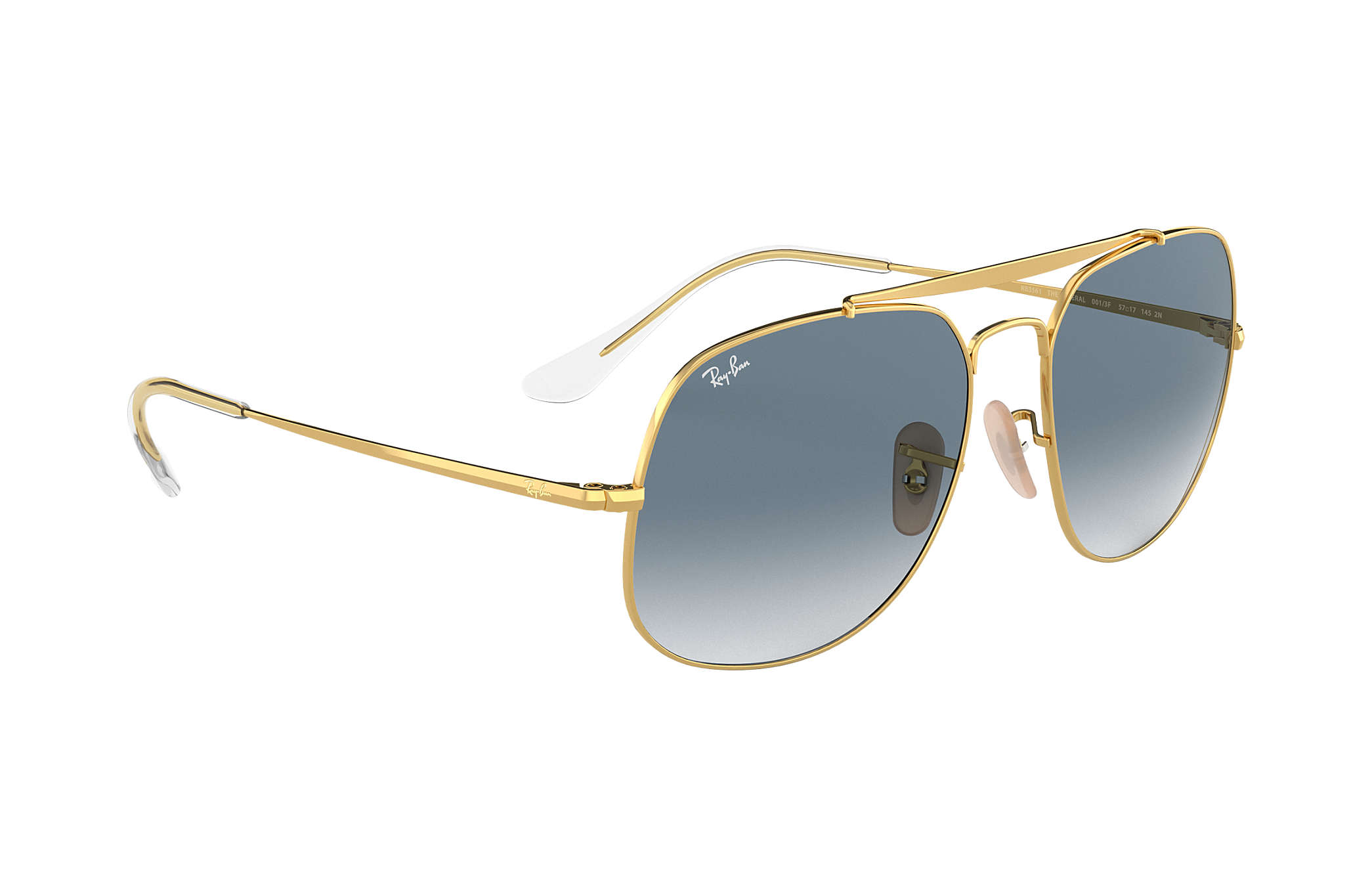 2e002a16726 Ray-Ban General RB3561 Gold - Metal - Light Blue Lenses - 0RB3561001 ...