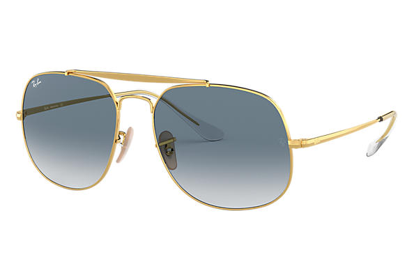 e7de333686 Ray-Ban General RB3561 Gold - Metal - Light Blue Lenses - 0RB3561001 ...