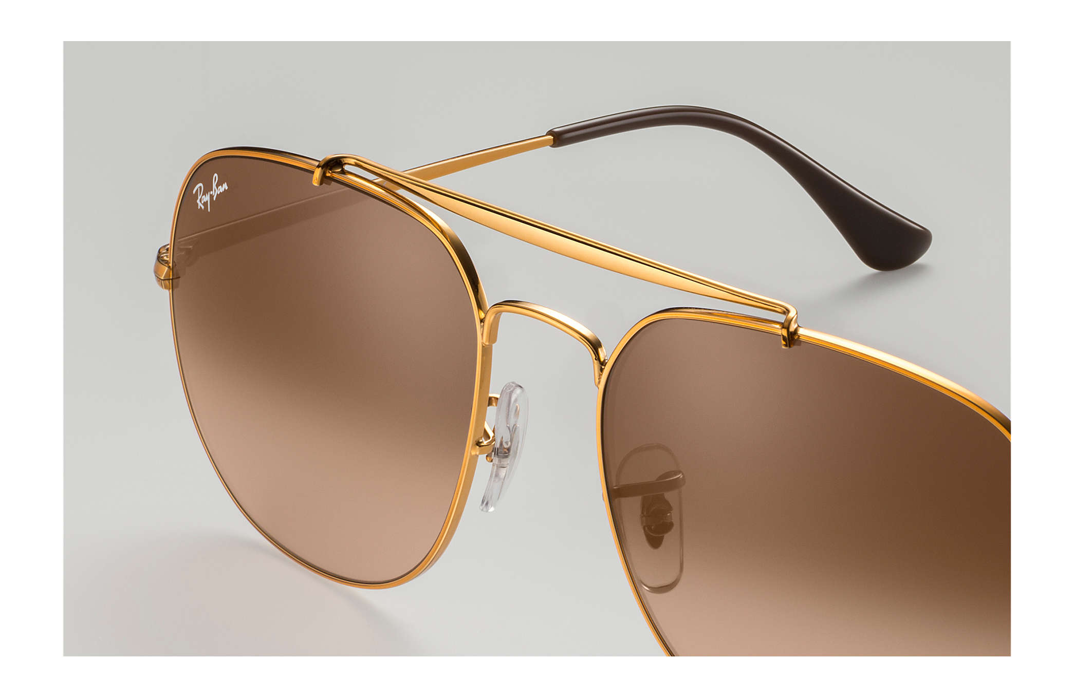 1121594e6fc Ray-Ban General RB3561 Bronze-Copper - Metal - Pink Brown Lenses ...
