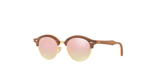 cab772c80a Ray-Ban Clubround Wood RB4246M Brown - Wood - Copper Lenses -  0RB4246M12187O51