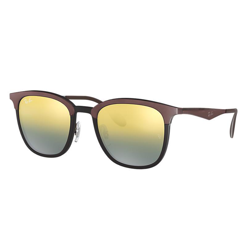 Ray-Ban Brown Sunglasses, Green Lenses - Rb4278