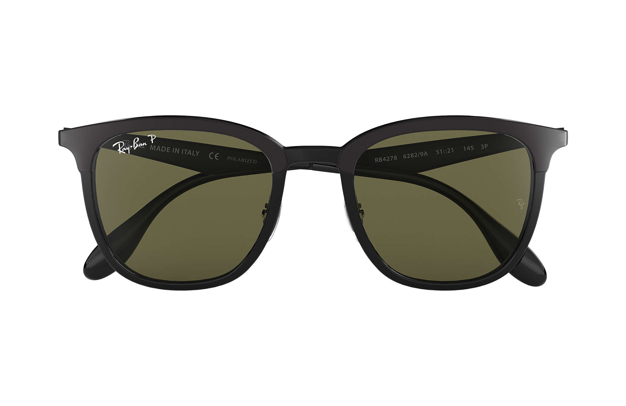 1648591cb64 Ray-Ban RB4278 Black - Injected - Green Polarized Lenses ...