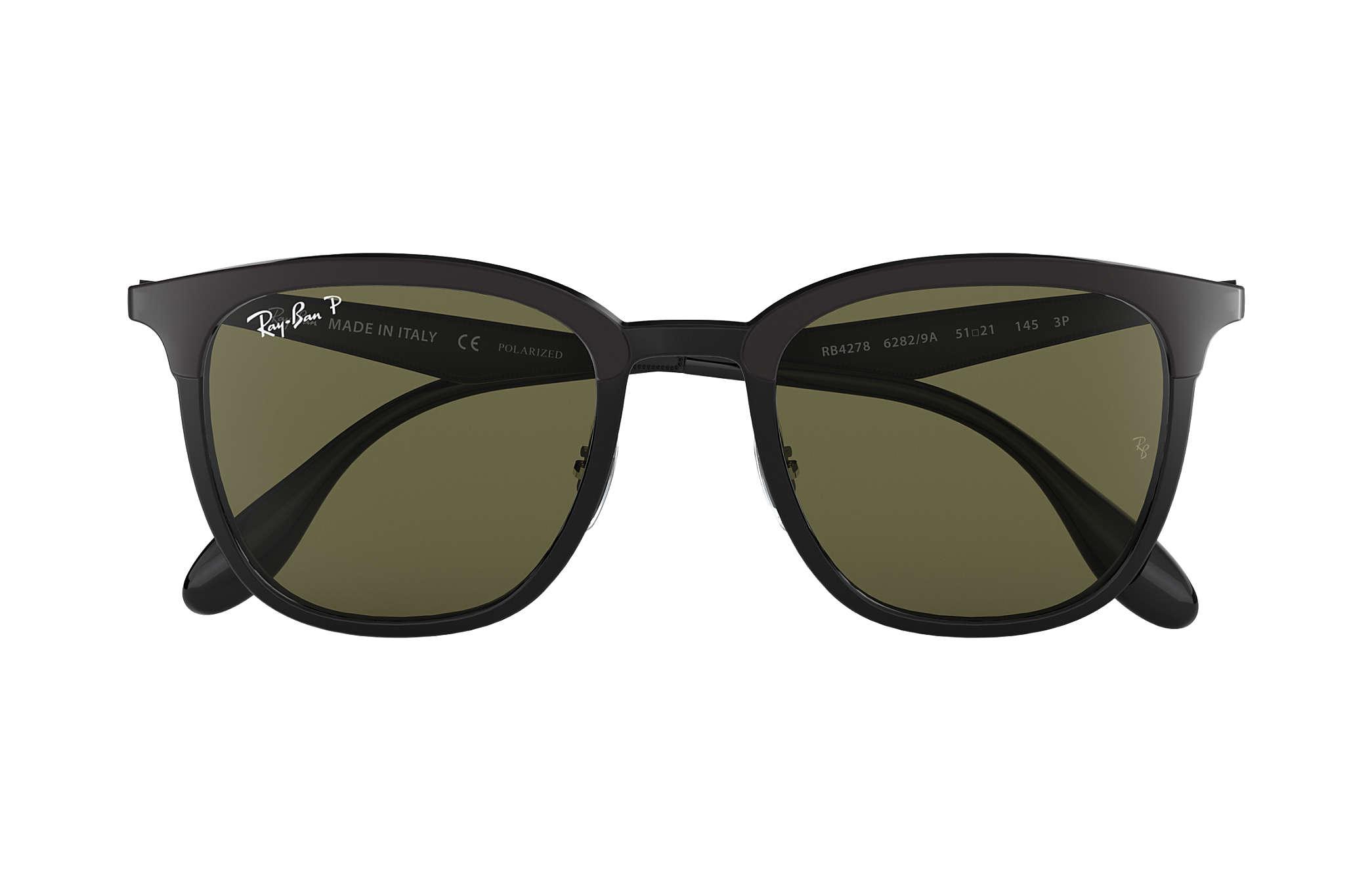 0ca1441bdf8 Ray-Ban RB4278 Black - Injected - Green Polarized Lenses ...