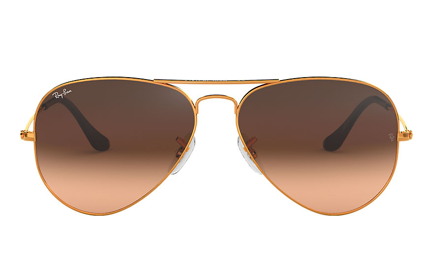 Ray-Ban  oculos de sol RB3025 MALE 004 aviator gradiente bronze acobreado 8053672731637