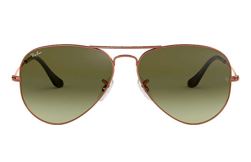 Ray-Ban  oculos de sol RB3025 MALE 006 aviator gradiente bronze acobreado 8053672731668