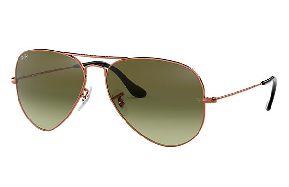 Ray-Ban 0RB3025-AVIATOR GRADIENT Bronze-Kupfer SUN