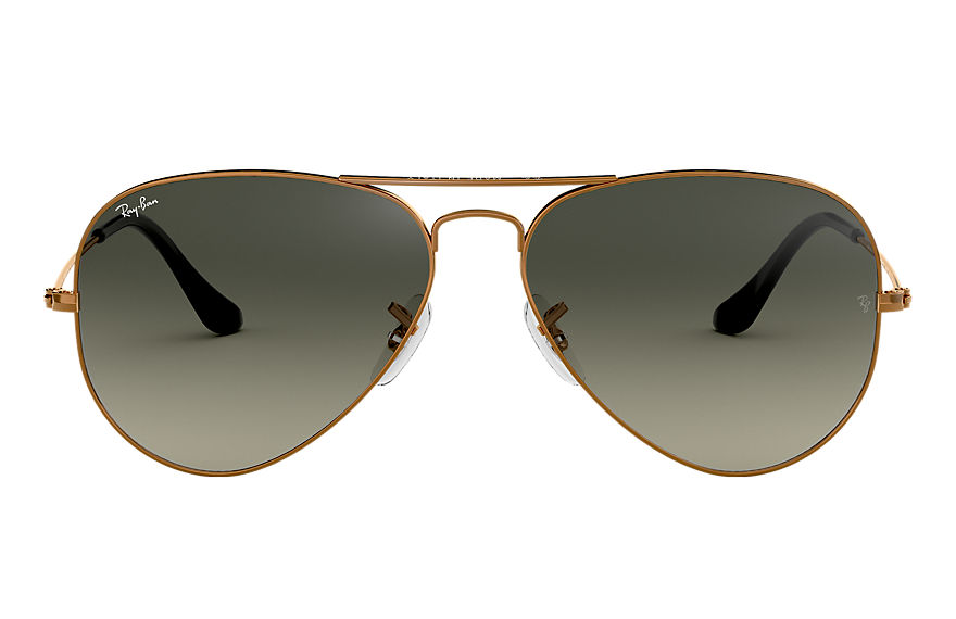 Ray-Ban  sonnenbrillen RB3025 MALE 005 aviator gradient bronze kupfer 8053672731699