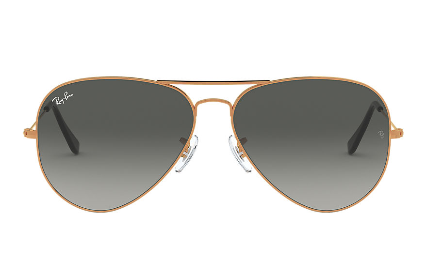 Ray-Ban  oculos de sol RB3025 MALE 005 aviator gradiente bronze acobreado 8053672731811