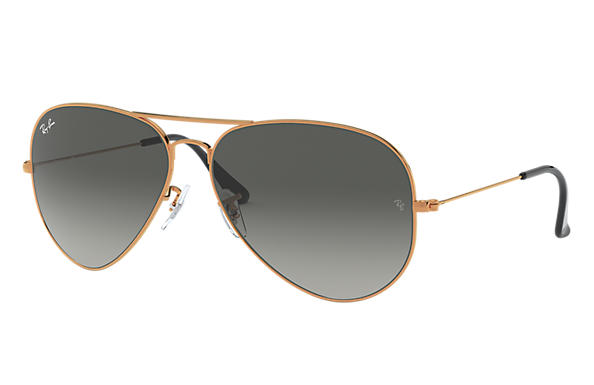398e9771199 Ray-Ban Aviator Gradient RB3025 Gold - Metal - Light Brown Lenses ...