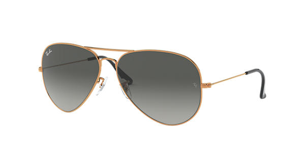 7e62ce9112a Ray-Ban Aviator Gradient RB3026 Bronze-Copper - Metal - Grey Lenses -  0RB3026197 7162