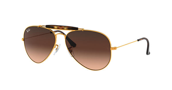 53770ce4e5 Ray-Ban Outdoorsman Ii RB3029 Bronze-Copper - Metal - Pink Brown Lenses -  0RB30299001A562