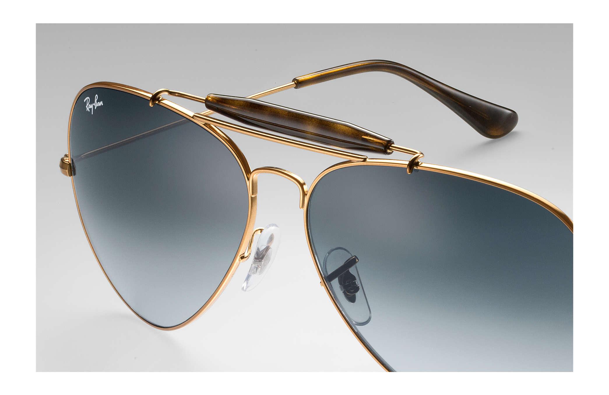 5baa95bfed6 Ray-Ban Outdoorsman Ii RB3029 Bronze-Copper - Metal - Grey Lenses ...