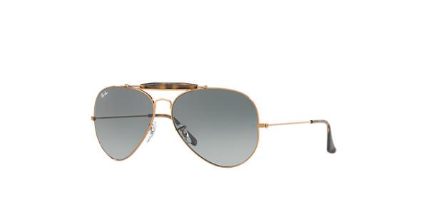9c251a97659 Ray-Ban Outdoorsman Ii RB3029 Bronze-Copper - Metal - Grey Lenses -  0RB3029197 7162