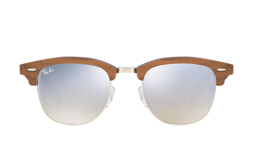 Ray-Ban  sunglasses RB3016M MALE 001 clubmaster wood lichtblauw 8053672731941