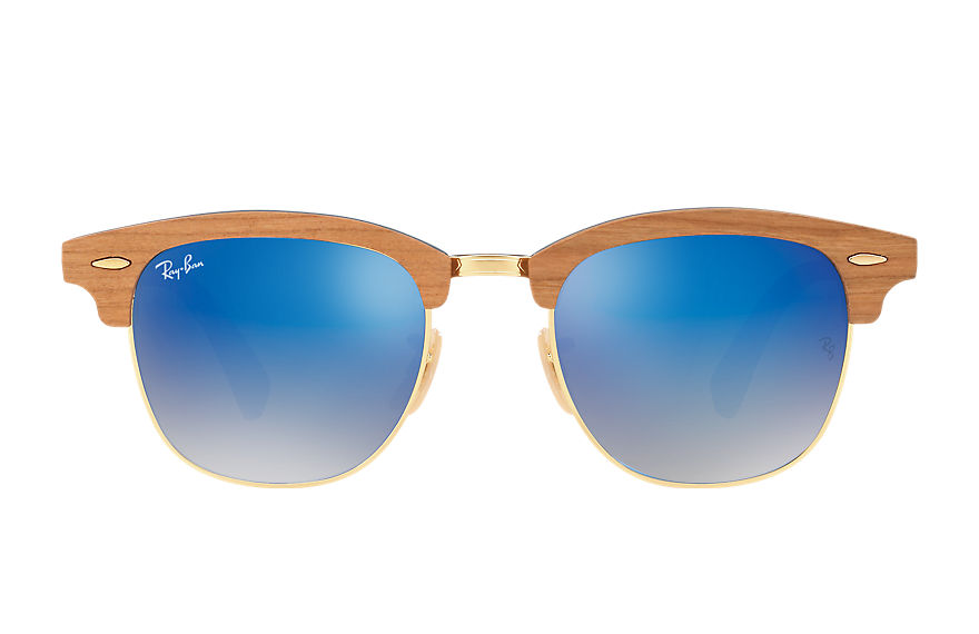 Ray-Ban  gafas de sol RB3016M MALE 002 clubmaster wood azul 8053672731958