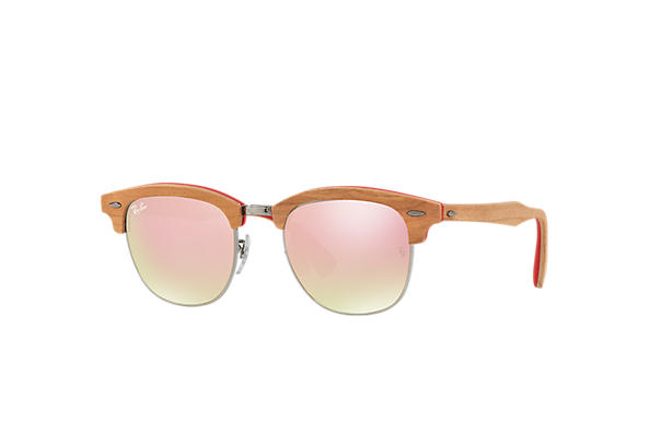 Ray-Ban 0RB3016M-CLUBMASTER WOOD Red; Brown SUN