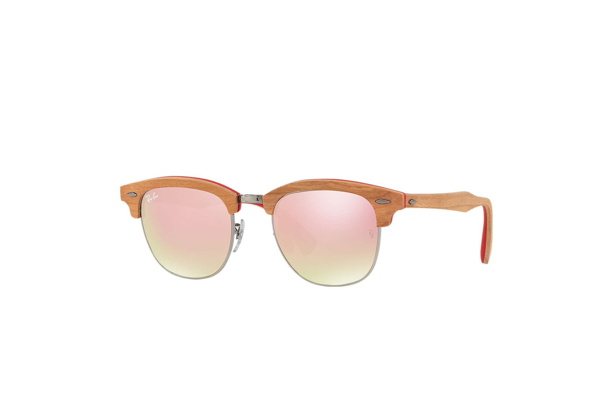 ae56404113 ... france ray ban 0rb3016m clubmaster wood red brown sun 1932f 1d136