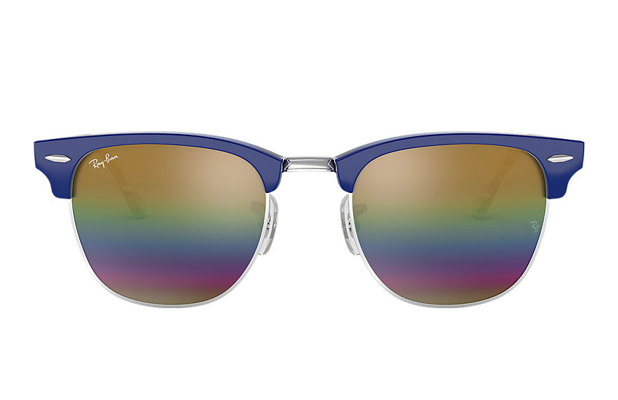 Ray-Ban  sunglasses RB3016 UNISEX 009 clubmaster mineral flash lenses blue 8053672732108