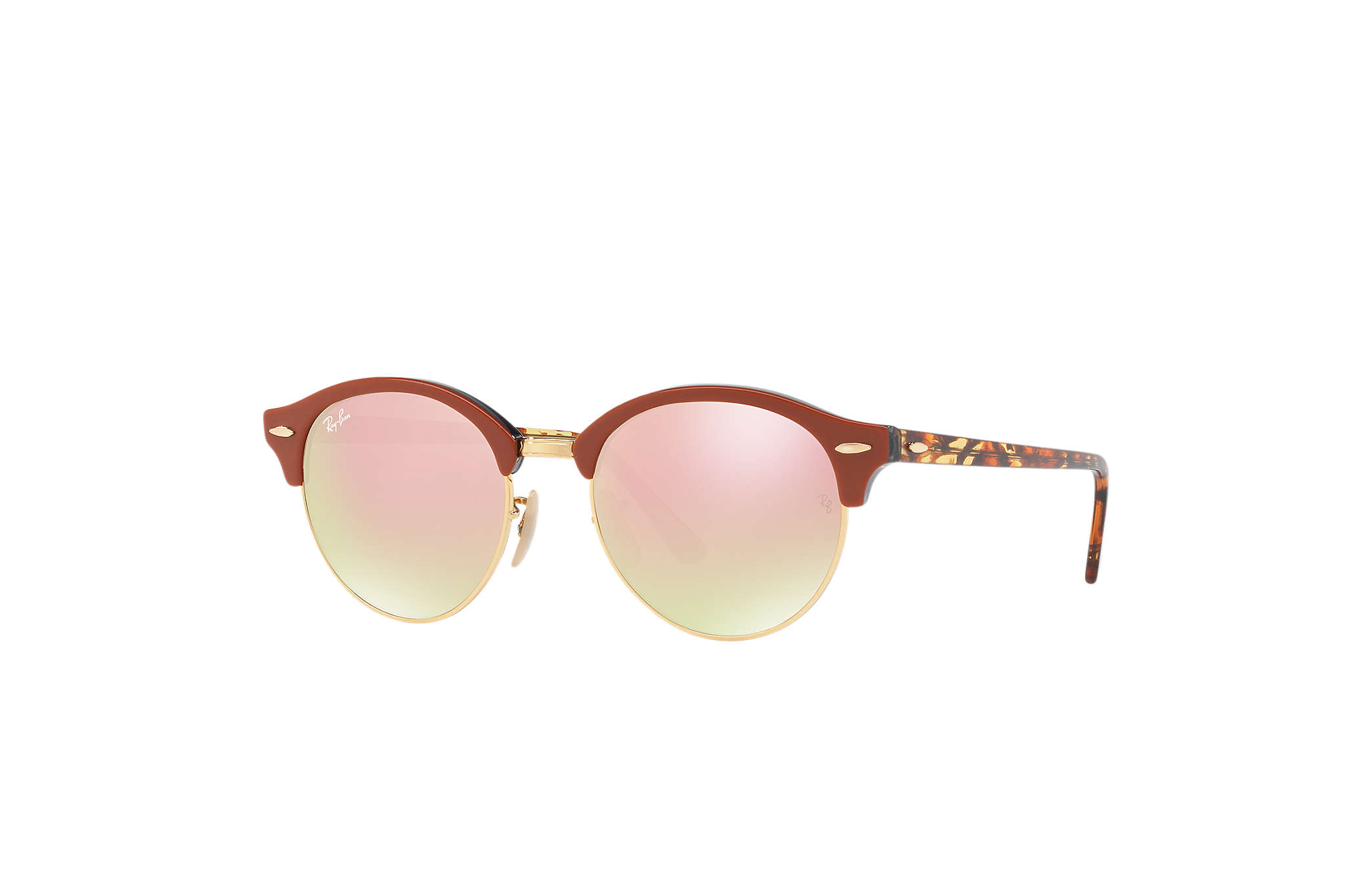 e5aa706177 Ray-Ban Clubround Flash Lenses RB4246 Brown - Acetate - Copper ...