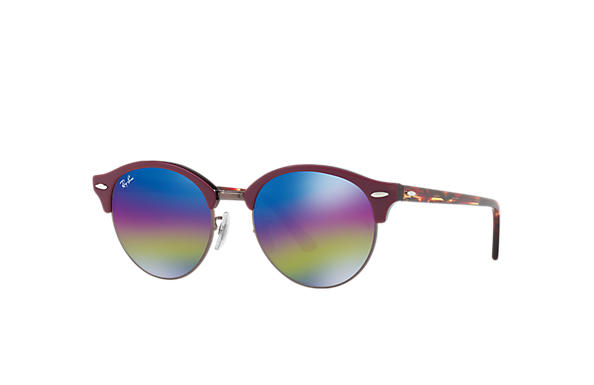 Ray-Ban 0RB4246-CLUBROUND MINERAL FLASH LENSES Vinröd; Röd SUN