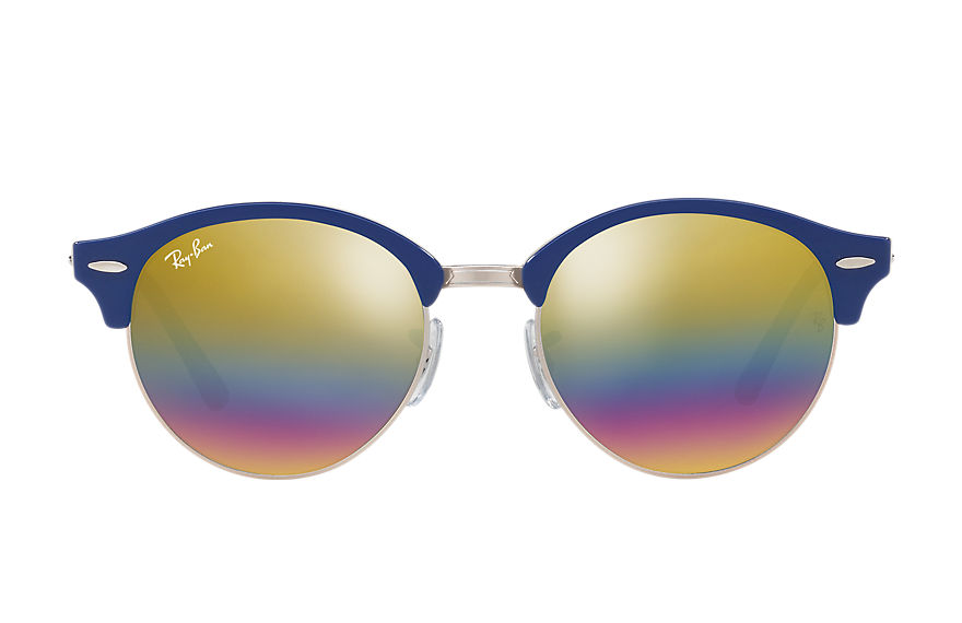 Ray-Ban  sunglasses RB4246 UNISEX 015 clubround mineral flash lenses blue 8053672732801