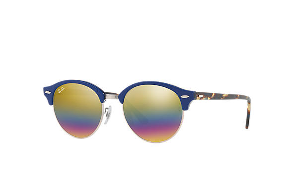 Ray-Ban 0RB4246-CLUBROUND MINERAL FLASH LENSES Blue SUN