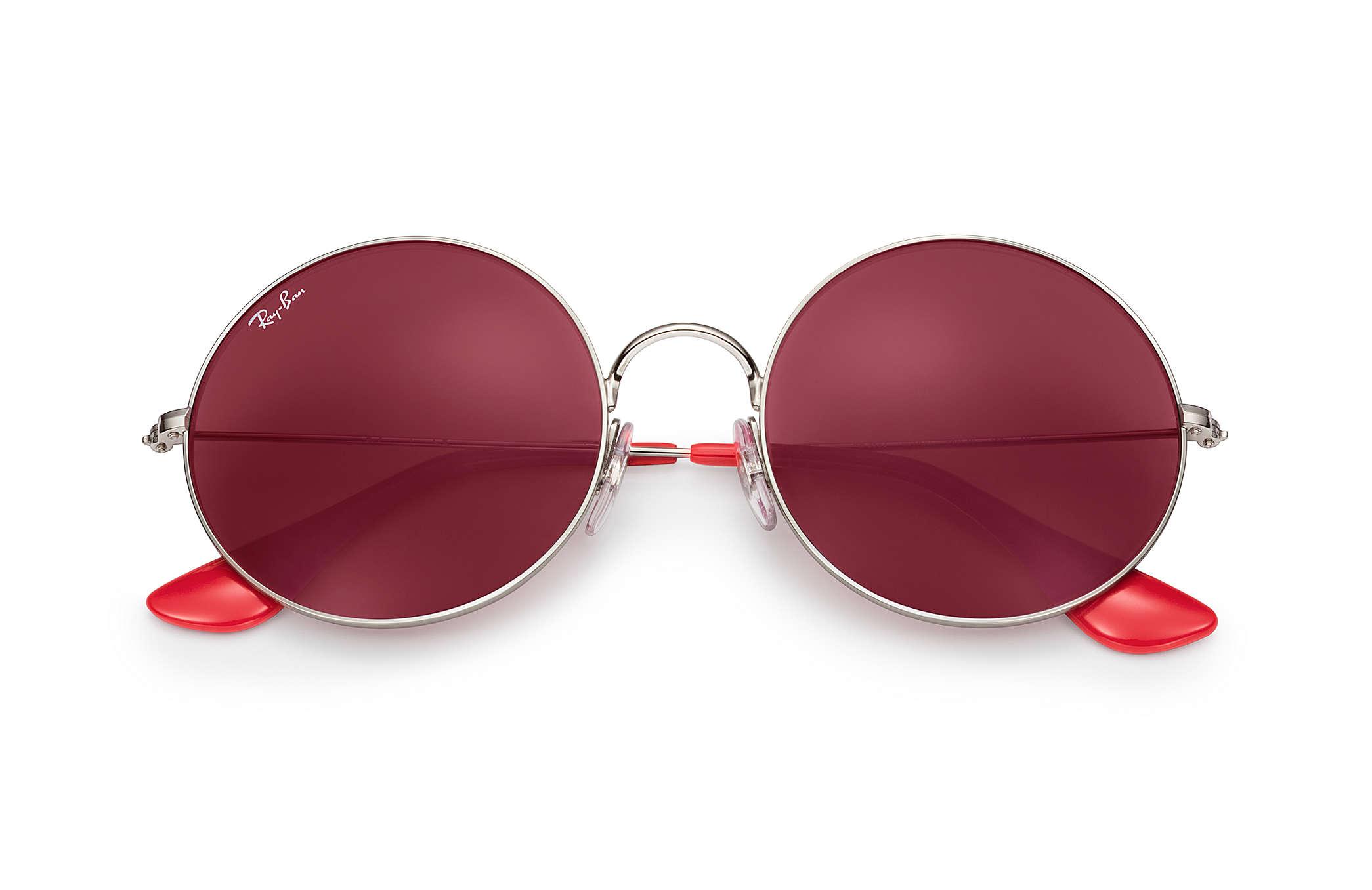 1963b45472 Ray-Ban Ja-jo RB3592 Silver - Metal - Dark Red Lenses - 0RB3592003 ...