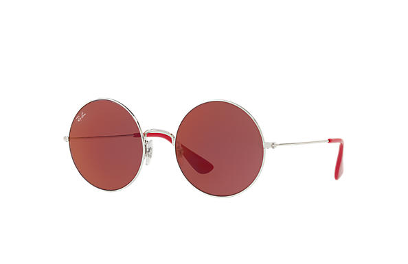 4453dcc2be Ray-Ban Ja-jo RB3592 Silver - Metal - Dark Red Lenses - 0RB3592003 ...