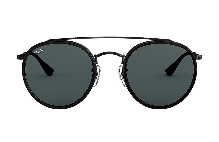 Ray-Ban  sunglasses RB3647N UNISEX 007 round double bridge polished black 8053672737615