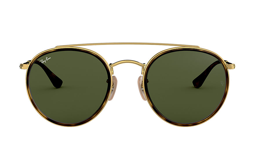 Ray-Ban  sunglasses RB3647N UNISEX 001 round double bridge polished gold 8053672737622