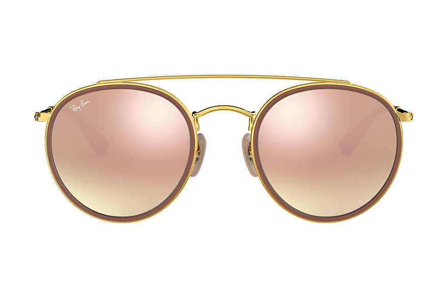 Ray-Ban  sunglasses RB3647N UNISEX 004 round double bridge polished gold 8053672737639