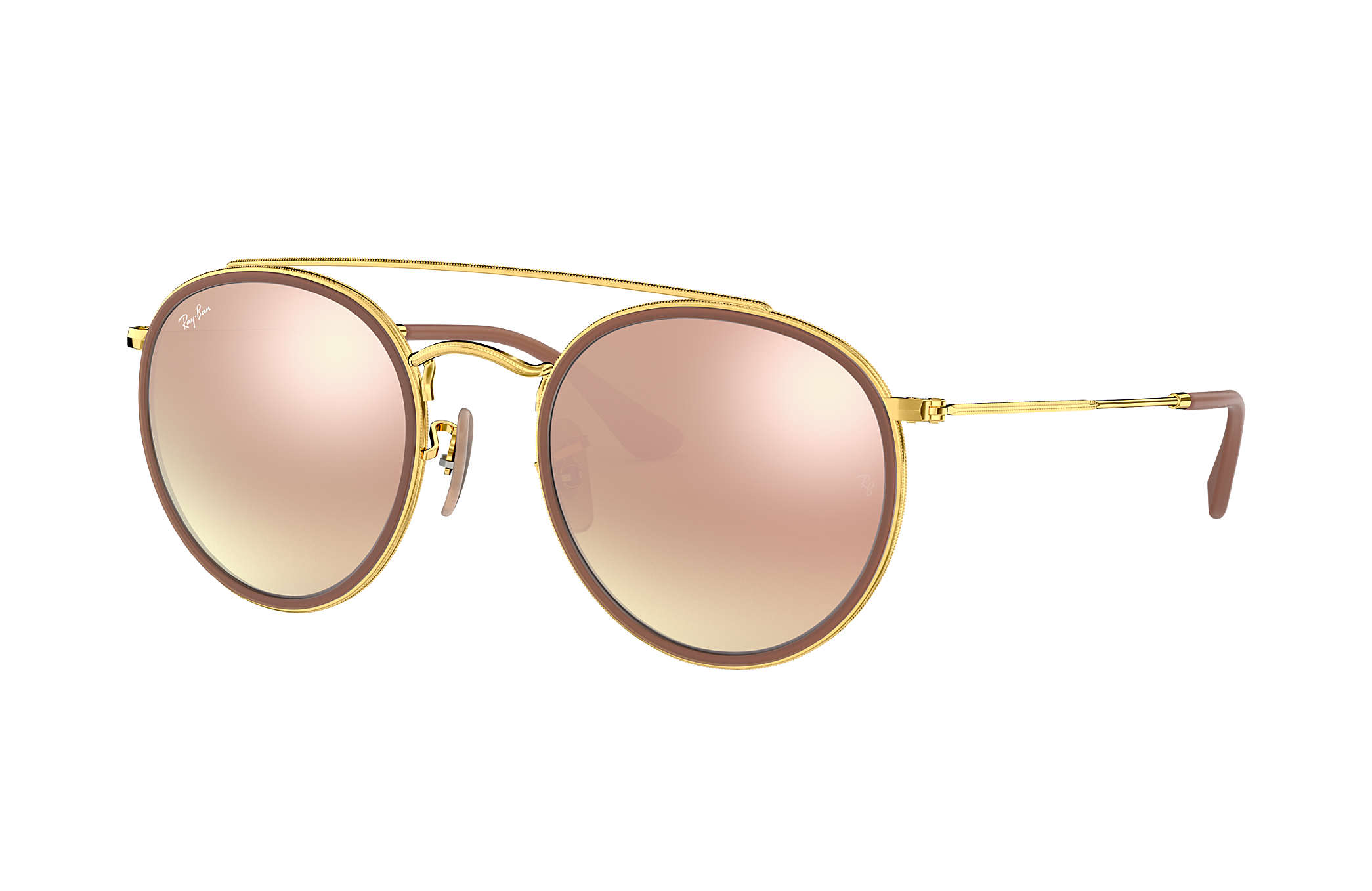 RAY BAN RAY-BAN Damen Sonnenbrille » RB3647N«, rosa, 90683F