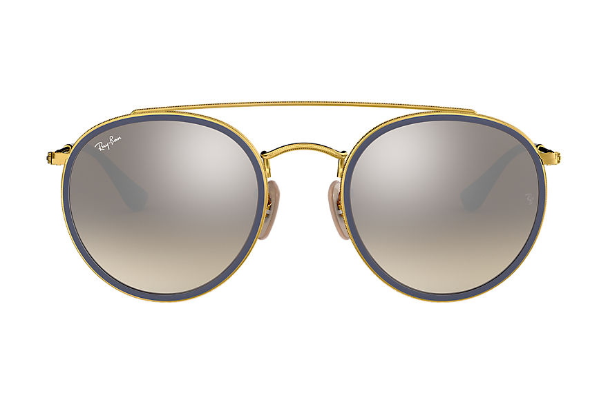 Ray-Ban  oculos de sol RB3647N UNISEX 005 round double bridge ouro 8053672737646