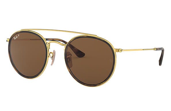 Ray-Ban 0RB3647N-ROUND DOUBLE BRIDGE Gold SUN