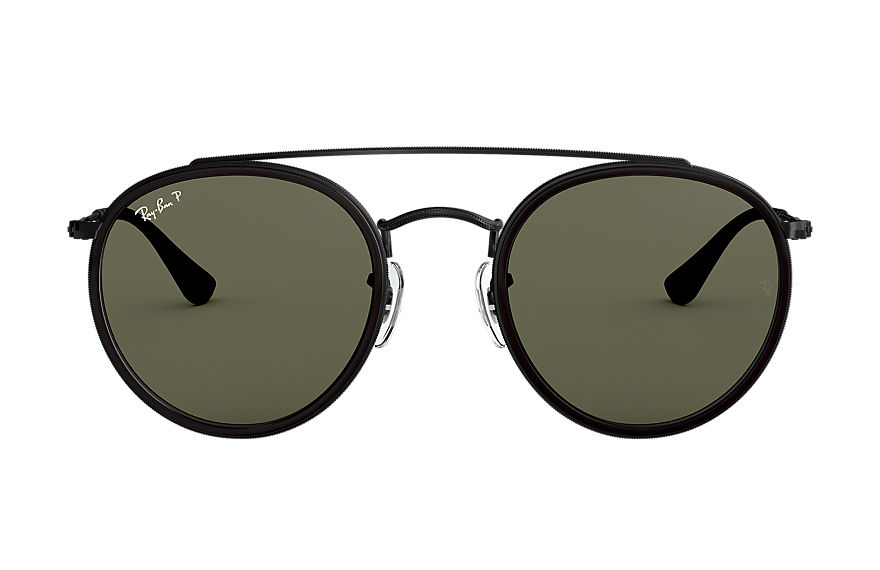 Ray-Ban  occhiali da sole RB3647N UNISEX 006 round double bridge nero lucido 8053672737677