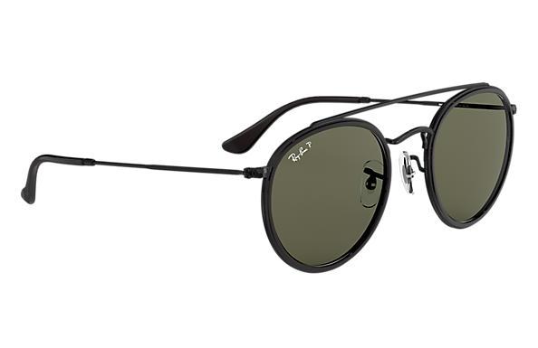 oculos de sol ray ban round double bridge preto rb3647