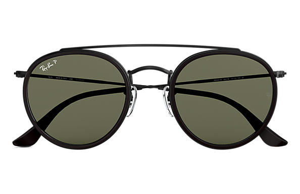 d33c7451b6f1c Ray-Ban Round Double Bridge RB3647N Preto - Metal - Lentes ...
