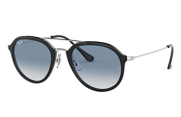 Ray-Ban Sunglasses RB4253 Black with Light Blue Gradient lens
