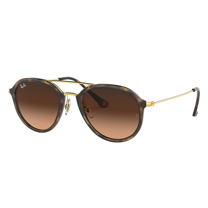 Ray Ban Rb4253 Unisex Sunglasses Verres: Rose, Monture: Or - RB4253 710/A5 53-21