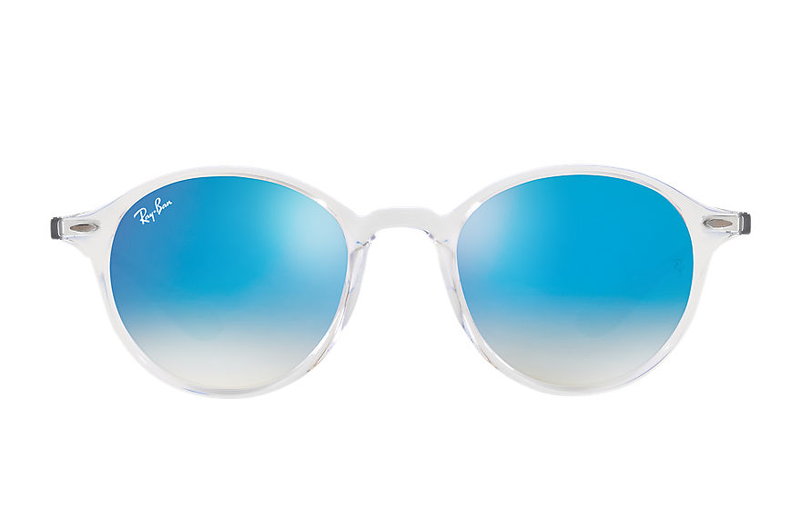 Ray-Ban RB4237 Transparent with Blue Gradient Flash lens