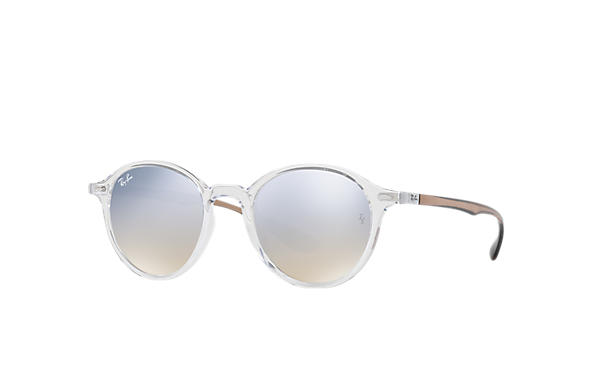 Ray-Ban RB4237 Transparent with Silver Gradient Flash lens
