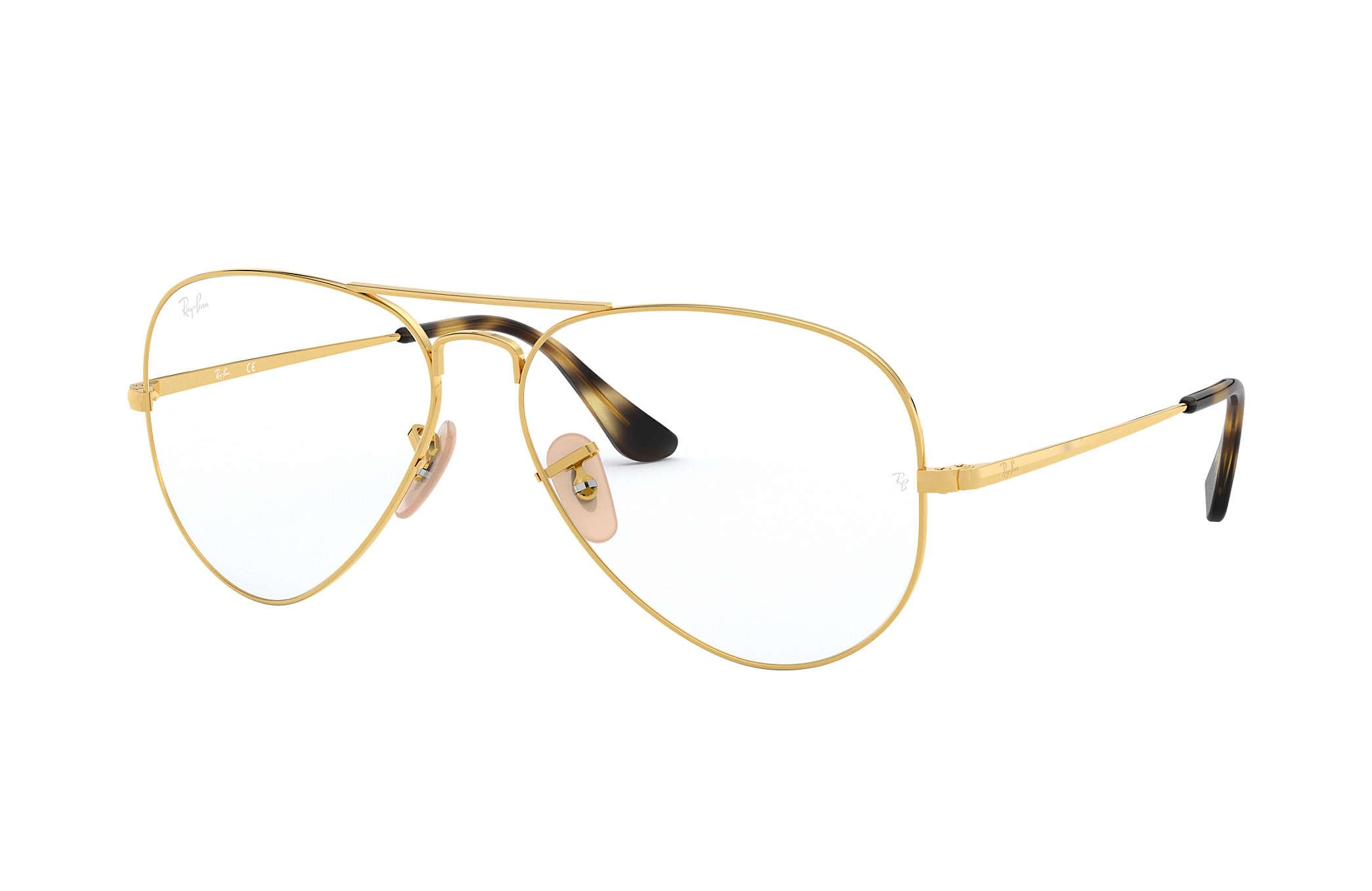 9e653d5477 Gafas de vista Ray-Ban Aviator Vista RB6489 Oro - Metal ...