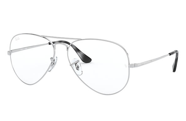 Ray-Ban 0RX6489-Aviator Optics Argento OPTICAL