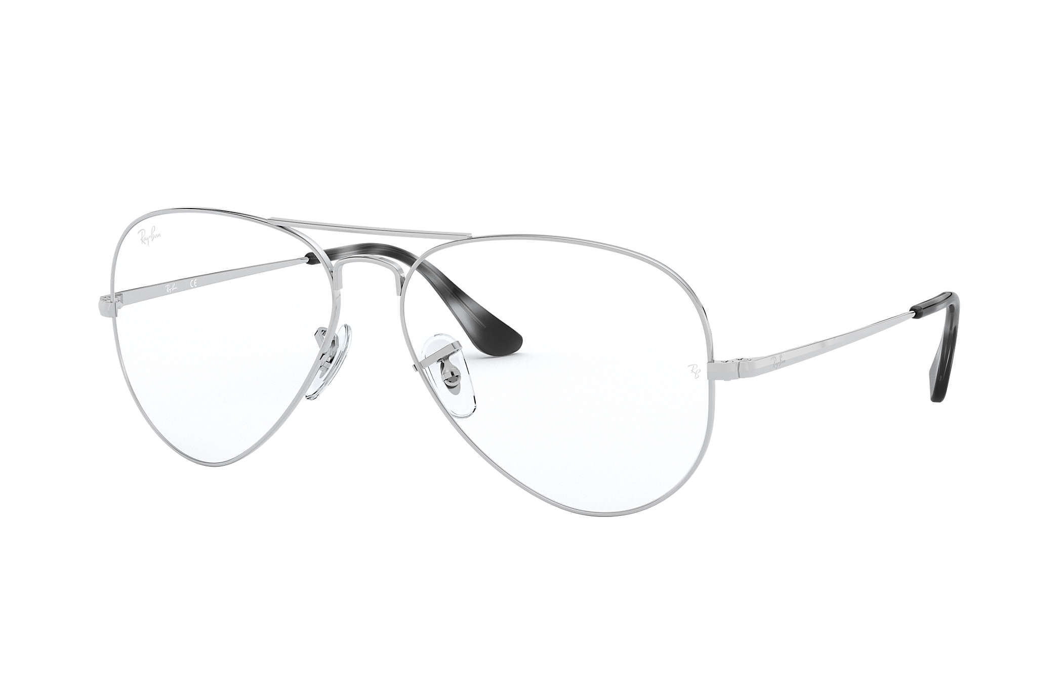 Ray-Ban prescription glasses Aviator Optics RB6489 Silver - Metal ...