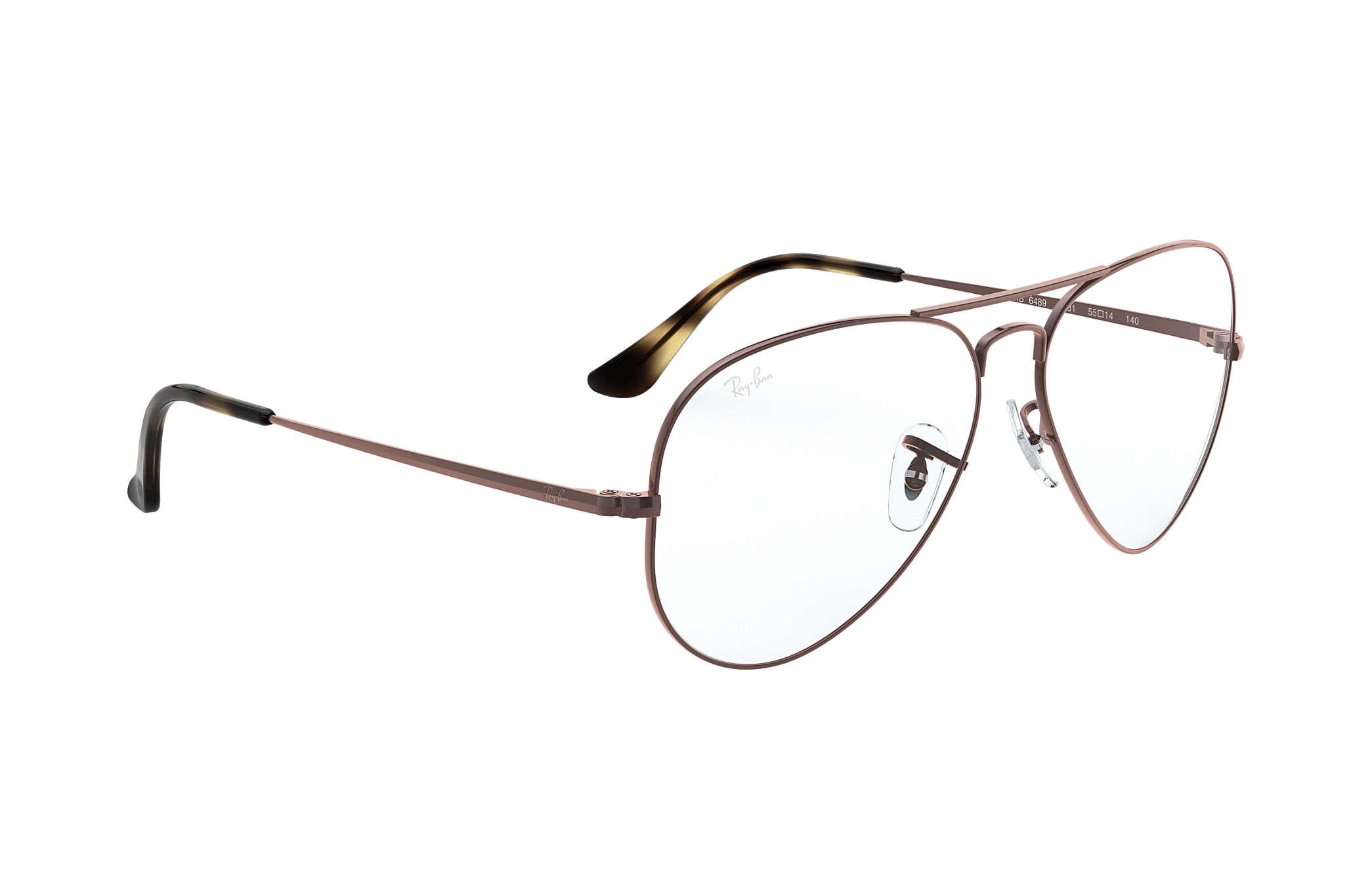 91e7110189 Ray-Ban prescription glasses Aviator Optics RB6489 Light Brown ...