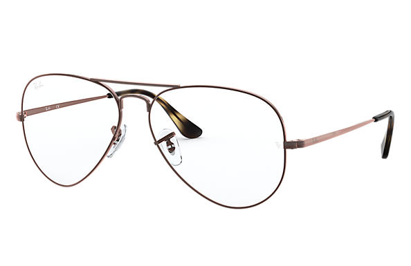 Ray-Ban 0RX6489-Aviator Optics Hellbraun OPTICAL