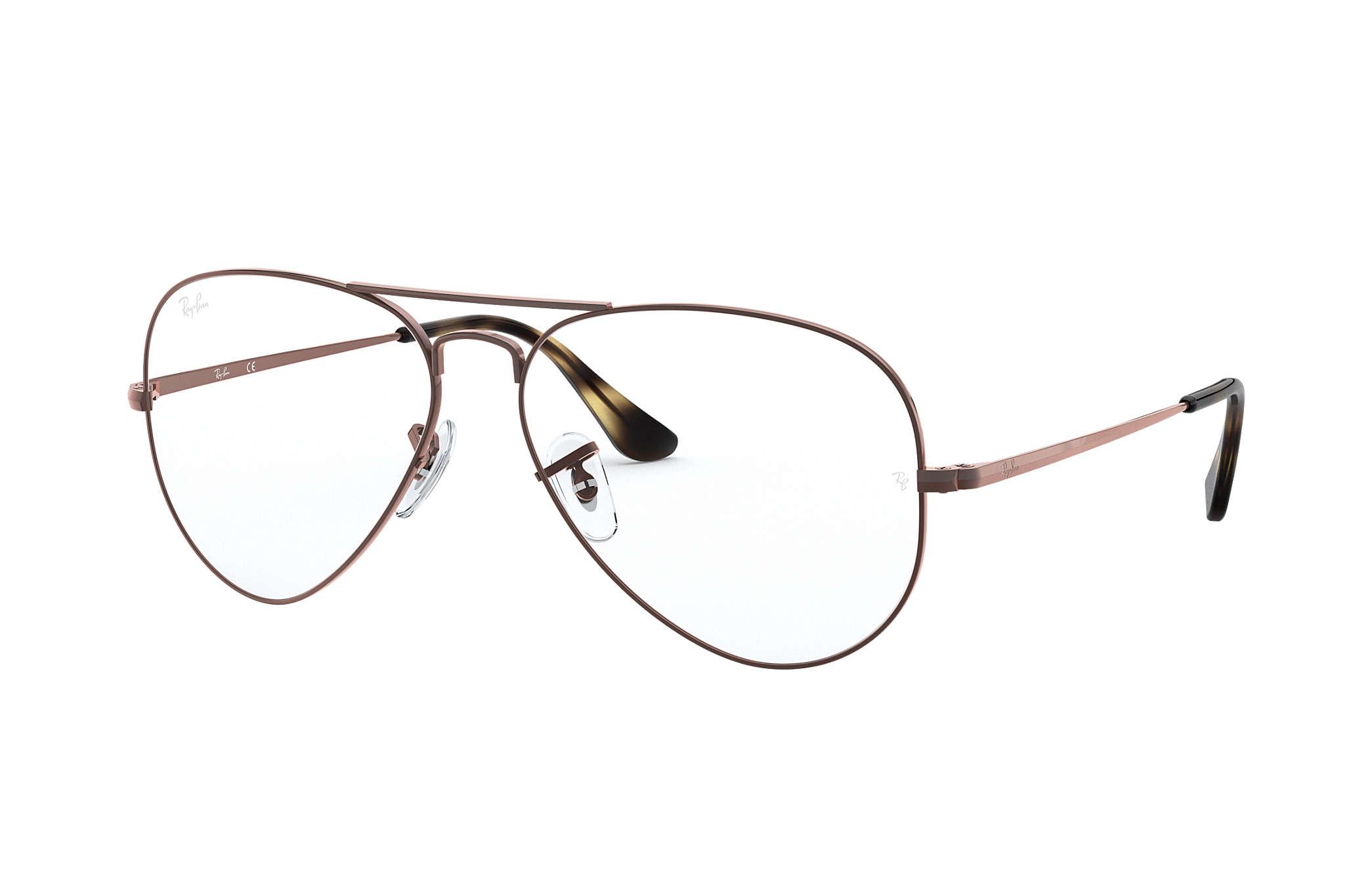 Ray-Ban prescription glasses Aviator Optics RB6489 Light Brown ...